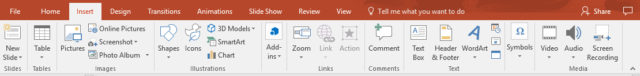 PowerPoint Insert video tab